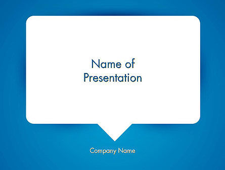 Abstract/Textures: Speech Bubble PowerPoint Template #13034