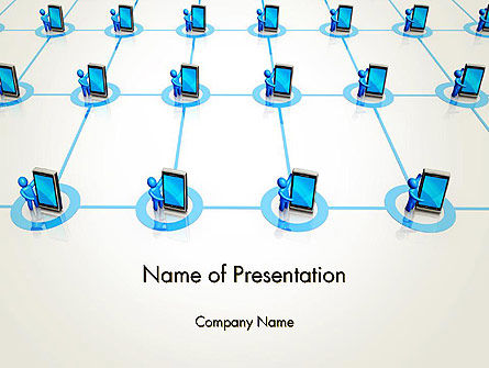 Content Sharing Concept PowerPoint Template, 13036, Technology and Science — PoweredTemplate.com