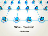 Technology and Science: Content Sharing Concept PowerPoint Template #13036