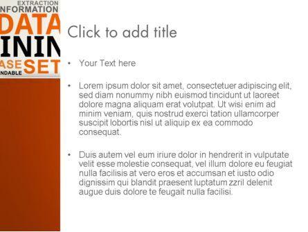 Data Mining Word Cloud PowerPoint Template, Slide 3, 13038, Business — PoweredTemplate.com