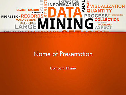 Business: Data Mining Word Cloud PowerPoint Template #13038