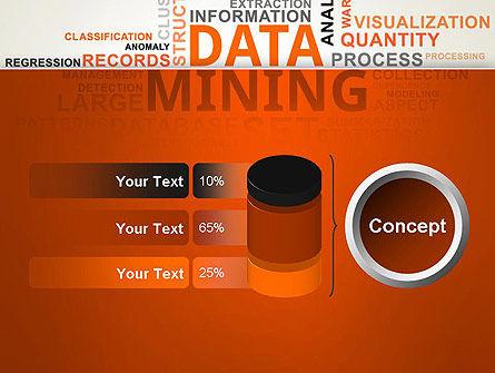 Data Mining Word Cloud PowerPoint Template Slide 11