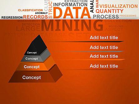 Data Mining Word Cloud PowerPoint Template Slide 12