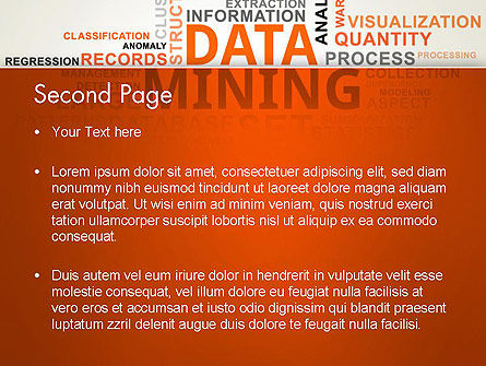 Data Mining Word Cloud PowerPoint Template Slide 2
