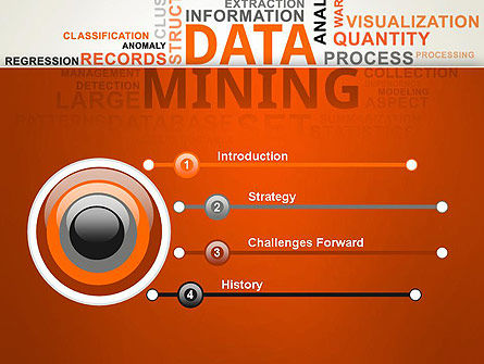 data mining word cloud powerpoint template, backgrounds | 13038, Presentation templates