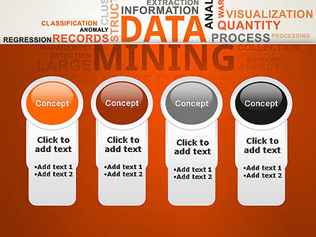 Data Mining Word Cloud PowerPoint Template Slide 5
