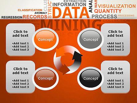 Data Mining Word Cloud PowerPoint Template Slide 9
