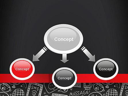Internet Related Doodles on Chalkboard PowerPoint Template Slide 4