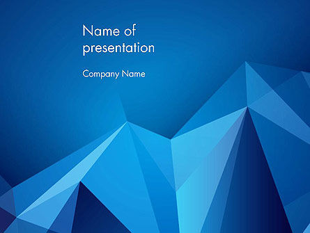 Abstract Mountain Peaks PowerPoint Template