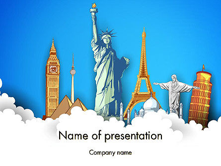 Careers/Industry: Landmarks PowerPoint Template #13044