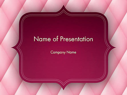 Abstract/Textures: Abstract Pink Quilted Satin Frame PowerPoint Template #13045