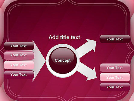 Abstract Pink Quilted Satin Frame PowerPoint Template Slide 14