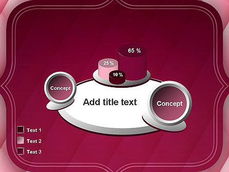 Abstract Pink Quilted Satin Frame PowerPoint Template Slide 16