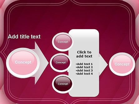 Abstract Pink Quilted Satin Frame PowerPoint Template Slide 17