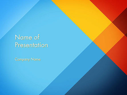 intersection of color planes powerpoint template, backgrounds, Modern powerpoint