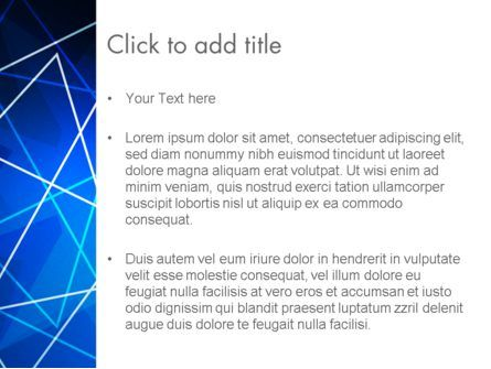 Abstract Wire on Blue PowerPoint Template, Slide 3, 13047, Abstract/Textures — PoweredTemplate.com