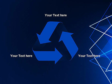 Abstract Wire on Blue PowerPoint Template Slide 10