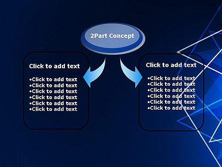Abstract Wire on Blue PowerPoint Template Slide 4