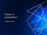 Abstract/Textures: Abstract Wire on Blue PowerPoint Template #13047