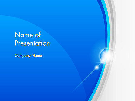 Abstract Solar Flare PowerPoint Template, 13048, Abstract/Textures — PoweredTemplate.com
