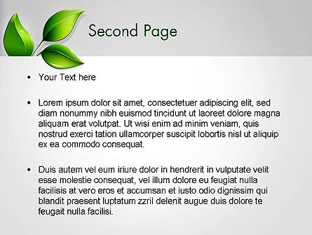 Ecological Theme PowerPoint Template, Slide 2, 13050, Nature & Environment — PoweredTemplate.com