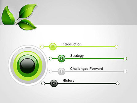 Ecological Theme PowerPoint Template, Slide 3, 13050, Nature & Environment — PoweredTemplate.com