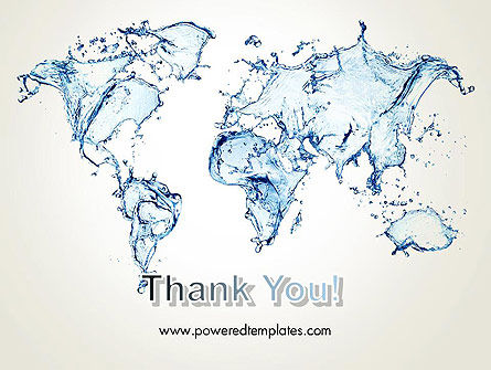 Blue Water Splash World Map PowerPoint Template Slide 20