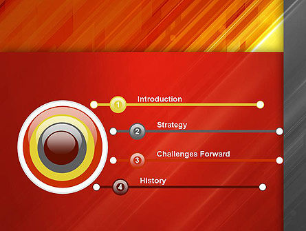 Abstract Fiery Theme PowerPoint Template Slide 3