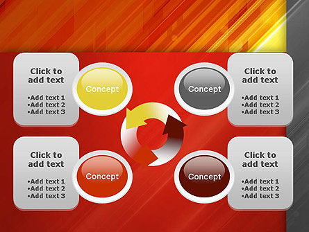 Abstract Fiery Theme PowerPoint Template Slide 9