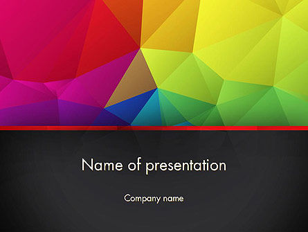 Polygonal Colorful Abstract Powerpoint Template, Backgrounds