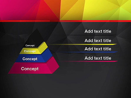 Polygonal Colorful Abstract PowerPoint Template Slide 12
