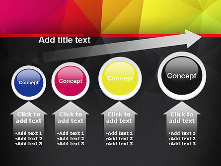 Polygonal Colorful Abstract PowerPoint Template Slide 13