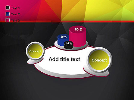 Polygonal Colorful Abstract PowerPoint Template Slide 16