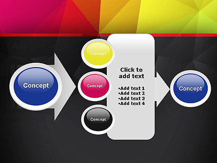 Polygonal Colorful Abstract PowerPoint Template Slide 17