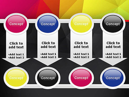 Polygonal Colorful Abstract PowerPoint Template Slide 18