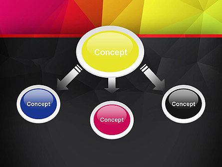 Polygonal Colorful Abstract PowerPoint Template Slide 4