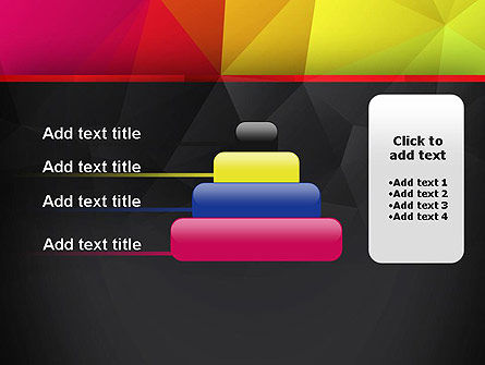Polygonal Colorful Abstract PowerPoint Template Slide 8