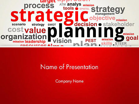Careers/Industry: Strategic Planning and Management Word Cloud PowerPoint Template #13055