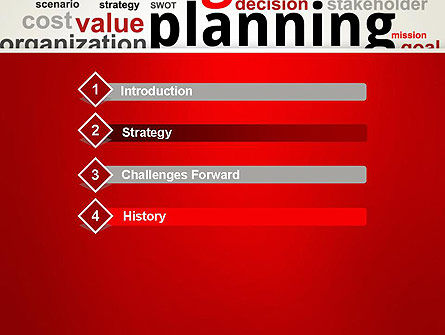 Strategic Planning and Management Word Cloud PowerPoint Template Slide 3