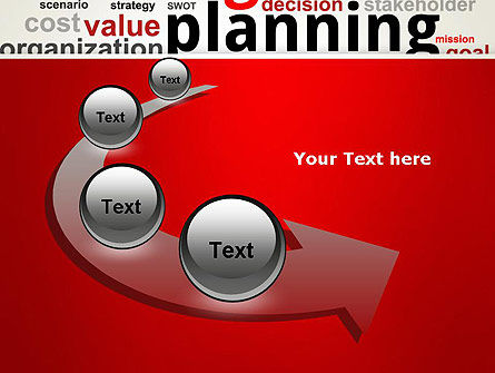 Strategic Planning and Management Word Cloud PowerPoint Template Slide 6