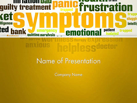 Psychology Symptoms Word Cloud PowerPoint Template, 13056, Medical — PoweredTemplate.com