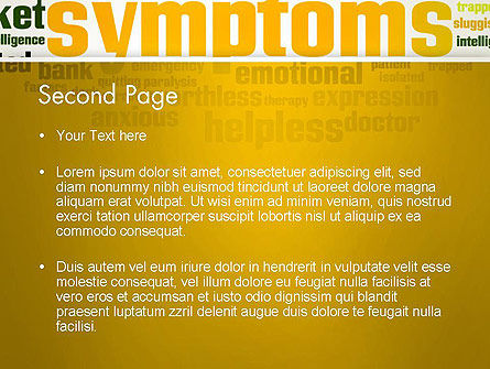 Psychology Symptoms Word Cloud PowerPoint Template, Slide 2, 13056, Medical — PoweredTemplate.com