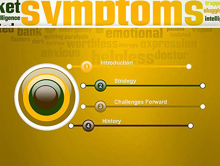 Psychology Symptoms Word Cloud PowerPoint Template, Slide 3, 13056, Medical — PoweredTemplate.com