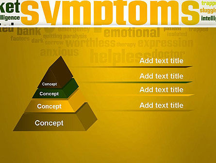 Psychology Symptoms Word Cloud PowerPoint Template, Slide 4, 13056, Medical — PoweredTemplate.com