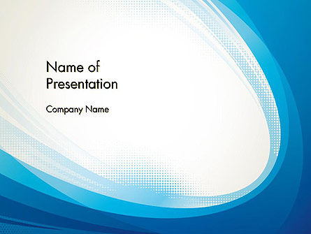 Blue Arc Abstract PowerPoint Template, 13061, Abstract/Textures — PoweredTemplate.com
