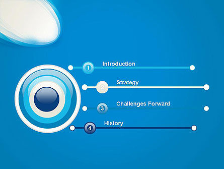 Blue Arc Abstract Powerpoint Template Backgrounds