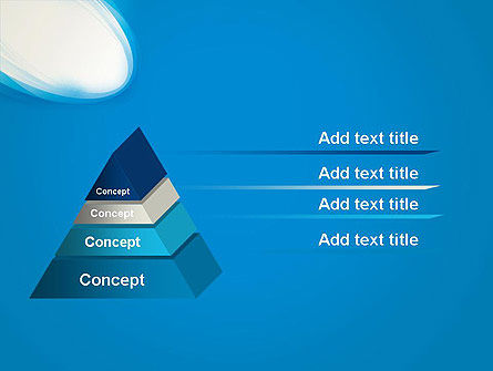 Blue Arc Abstract PowerPoint Template, Slide 4, 13061, Abstract/Textures — PoweredTemplate.com