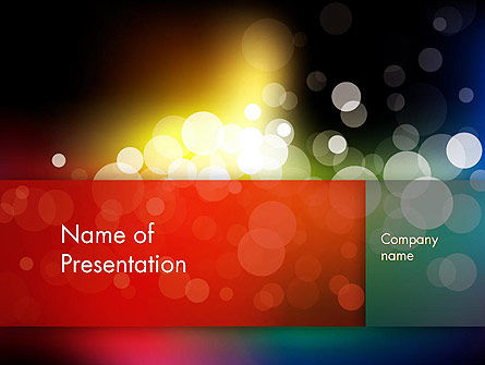 Blur Night Lights PowerPoint Template