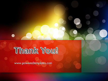 Blur Night Lights PowerPoint Template Slide 20