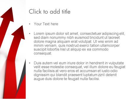 Red Arrows Moving Up PowerPoint Template, Slide 3, 13064, Business Concepts — PoweredTemplate.com